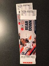 Chicago Bears VS Cleveland Browns, December 24, 2 tickets, 4 rows from the field
