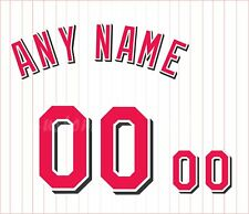 Baseball Cincinnati Reds 1999-06 White Jersey Customized Number Kit un-stitched