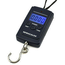 NEWACALOX 40kg x 10g digital fishing scale hanging portable scales madbite profe