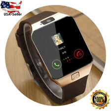Bluetooth Smart Watch Camera Waterproof Phone Touchscreen Android Samsung iPhone
