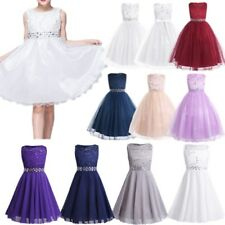 Flower Pageant Princess Sequins Dress Toddler Baby Girl Wedding Party TutuDress
