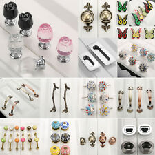 Fashion Various Drawer Pull Handles Door Cupboard Cabinet Knobs Porcelain