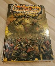 REALM OF CHAOS The Lost and the Damned HC OOP Warhammer 40K and Fantasy Battle