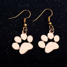 Silver Gold Paws Print Hook Drop Dangle Earrings Charms Jewelry Women Gift New