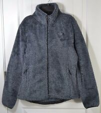 NEW WOMENS THE NORTH FACE GREY STRIPE FULL ZIP LONG SLEEVE JACKET COAT SZ M