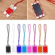 Detachable Silicone Lanyard Cell Phone Case Holder Neck Strap ID Card Slot HW