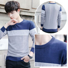 Men's Casual Sweater Slim Fit Knitting Mens Sweaters O-Neck Men Pullover Striped