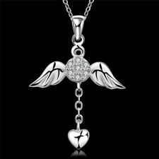 Necklace 1 Pcs Crystal Popular Hot Jewelry Fashion Pendant Angel Wings Necklace