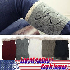 US HOT Womens Crochet Knit Knitted Lace Leg Warmers Cuffs Toppers Boot Socks st