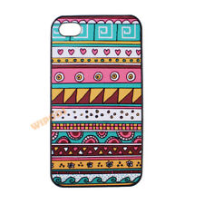 Tribal Aztec Pattern Heart Cute Hard Case Cover Skin for Apple iPhone 4 4S 5 5S