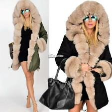 New Women Winter Long Warm Thick Parka Faux Fur Jacket Hooded Coat ONMF