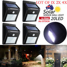1/2/4PCS 20 LEDs Solar PIR Motion Sensor Wall Light Home Garden Security Lamp AU