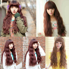 Ladies Long Curly Corn Hair Wigs Womens Anime Wig Fancy Dress Pop Party Costume