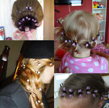 Wholesale 12PCS/Lot new Cute Crystal Flowers Hair Clip Girls Metal Hair Claws