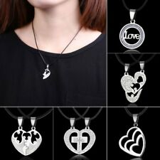 Friendship Heart Letters Family Couple Lover Pendant Necklace Chain Jewelry New