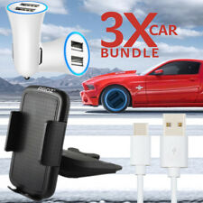 Car Charger Adapter + CD Slot Phone Holder 360° + Type C USB Charger Data Cable
