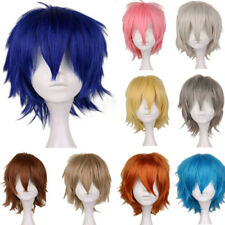 "12"" 30cm Boy Men Fashion Short Straight Synthetic Hair Wig Cosplay Wig 14 colors"