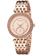 Taylor Cole Bling Crystal Women Lady Stainless Steel Bracelet Quartz Wrist Watch