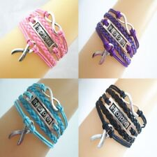 Fashion Women Cute Leather Infinity Charm Bracelet Jewelry Lots Style Party Gift