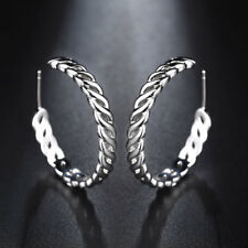 Clearance Trendy Jewelry Gift Round Circle Hoop/Huggie Earrings Platinum Plated