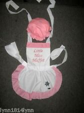 LADIES LITTLE MISS MUFFET COSTUME APRON & MOP TOP HAT Made to Order
