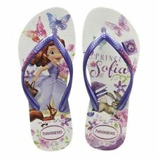 Havaianas Kids Princess Sofia White Girls Kids Flip Flops Sandal all Size