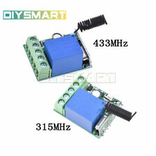 315/433MHz 1Channel Wireless Relay RF Remote Control Switch Receiver DC12V 10A