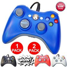 1 or 2 Packs Wired Controller Pad For Official Microsoft Xbox 360 Windows PC EO