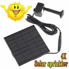 2X 4X Solar Water Pump Fountain Submersible Garden Pond Pool Feature Kit Plants