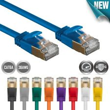 1FT-50FT CAT6A Ethernet LAN Network Patch Cable RJ45 S/STP 10GbE Slim 36AWG LOT