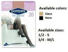 Pompea Vani 20 DEN Hold Ups Stockings Womens Sexy  Elegant Silicone Lace Band