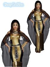 Cleopatra Black Egyptian Goddess Fancy Dress Party Halloween Costume Outfit AU