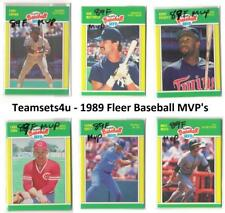 1989 Fleer Baseball MVP's Set ** Pick Your Team **
