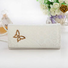 Ladies Women butterfly Long PU Leather Purse Wallet Clutch Zip Bag Card Holde