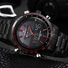 NAVIFORCE Men Quarz Wrist Watch Analog Digital LED Alarm Date Waterproof I6V6