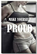 Poster Bodybuilding Men Girl Fitness Workout Quotes Motivational Font Print 01