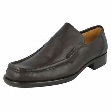 Mens DEAN Brown Grain Leather Slip On Shoe By Grenson Retail Price