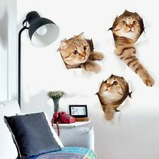 3D Lovely cats Wall Paper Print Decal Wall Deco Indoor wall Murals Home OZF