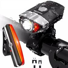 USB Rechargeable LED Bike Light Bicycle Waterproof Headlight Taillight Frame Set