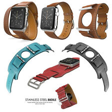 Genuine Leather Band Strap Bracelet Watchband For Apple Watch Series 321 38/42mm