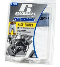 Russell Athletic Men's Performance  Dri Power Compression Bike Cycling Shorts