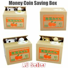 Itazura Cat Steal Coin Bank Piggy Bank Money Box Automated 2 Model Gift FK