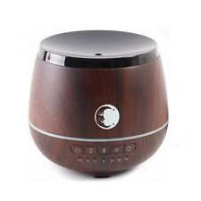Aromatherapy Oil Diffuser With Bluetooth Speaker & LED Lights Wood Effect