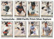 2000 Pacific Prism Silver Rapture Baseball Set ** Pick Your Team **