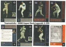 2000 Upper Deck Legends (1-135) Baseball Set ** Pick Your Team **