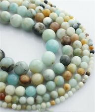 Wholesale 1Strand Natural Amazonite Gem Round Loose Beads 15.5inch HH3574