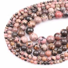 Wholesale 1Strand Beautiful Natural Rhodonite Round Loose Beads 15.5inch HH3578