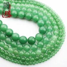 Wholesale 1Strand Natural Green Aventurine Round Loose Beads 15.5inch HH3587