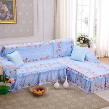 Polyester Warm Sofa Cover Couch Protector for 1 2 3 4 seater OauR Floral Blue
