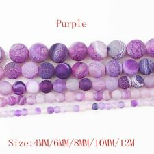 1Strand Nice Purple Coin Dragon Veins Agate Round Loose Beads 15.5inch HH3641